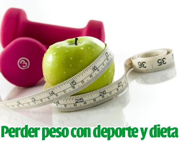 tabla de ejercicios y dieta para perder peso